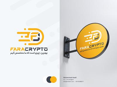Fara Crypto design bitcoin cash litecoin dogecoin stellar ripple tether bitcoin digital currency graphic design branding logo faracrypto