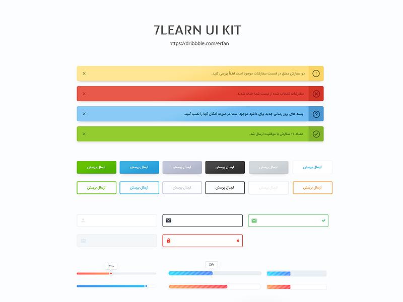 7learn ui kit elements training php css html javascript design theme ui kit wordpress tutorials 7leran
