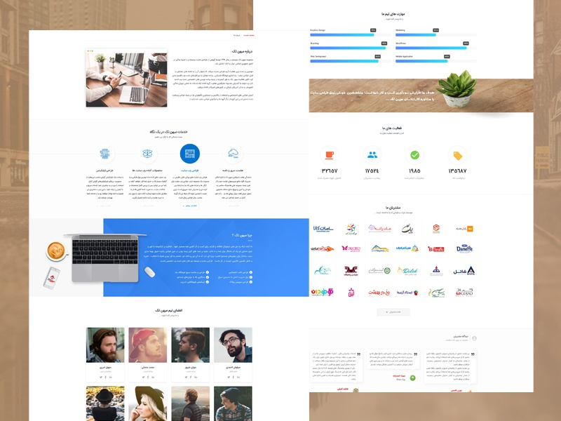 Mihantech ux design theme ui wordpress site design virtual server domian host