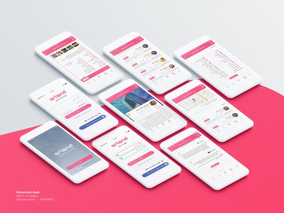Arland ux ui design booking travel hotel reservation arland app