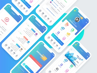 Arvand Pay app app ux ui user interface payment dashboard arvand pay