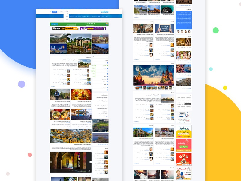 Hamgardi magazine design clean ui ux theme tour guide air plane ticket reserve hotel reservation hamgardi tourism reference social tourism network tourism tour news and articles tourism site magazine