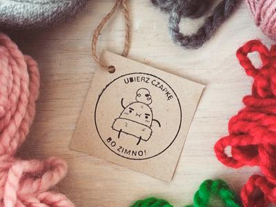 knit beanie hat logo illustrator vector graphic  design wool illustration hat design winter brand logo