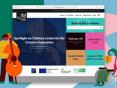 A new morleycollege.ac.uk website design college education website