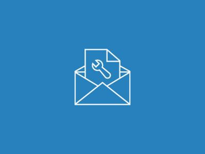 Mailbuilder. icon mail spanner
