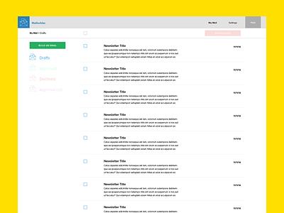 Mailbuilder. UI Preview app web app preview