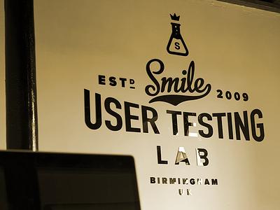 Studio Signage sign type typography metroscript proxima nova lab signage