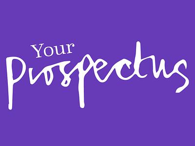 Your Prospectus logo hand writing hand lettering script