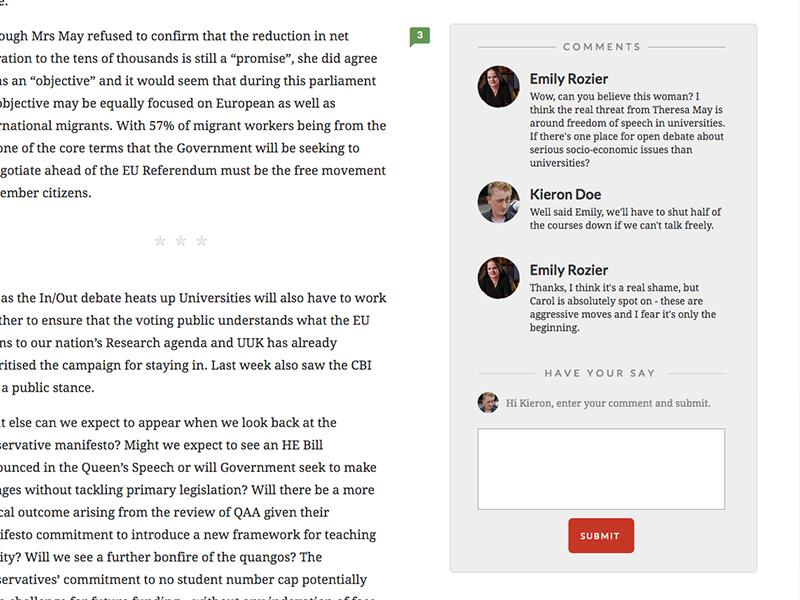 Inline Comments lato interface ui website comments inline comments