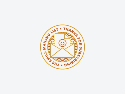 Thanks for Subscribing! smile logo sticker avenir pattern email mail envelope iconography icon