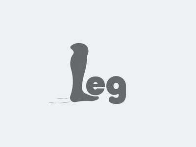 Leg negative space logo