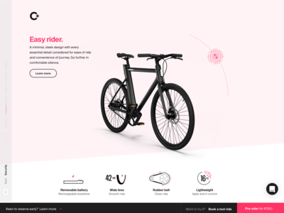Cowboy – The Story of Comfort electronic bike digital design branding interactive webgl ux design webdesign ueno belgium magenta iconography icon interface ui cowboy electric bike ebike bike animation design