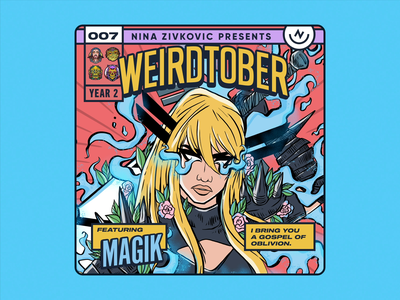 Weirdtober 007/031: Illyana Rasputina aka Magik… aka Darkchilde new mutants comic book art weirdtober marvel x-men xmen avengers magik comic book graphic design sketch daily sketch procreate illustration comic book cover cmu flowers leaves animation
