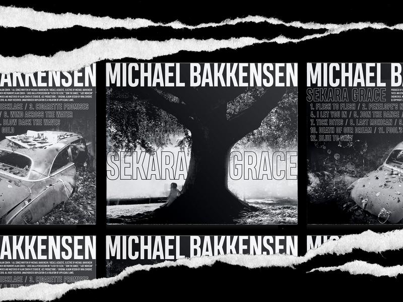 Michael Bakkensen:  Sekara Grace × Album Artwork graphic design design entertainment singer black and white packaging band music cd design cd cover album artwork album art