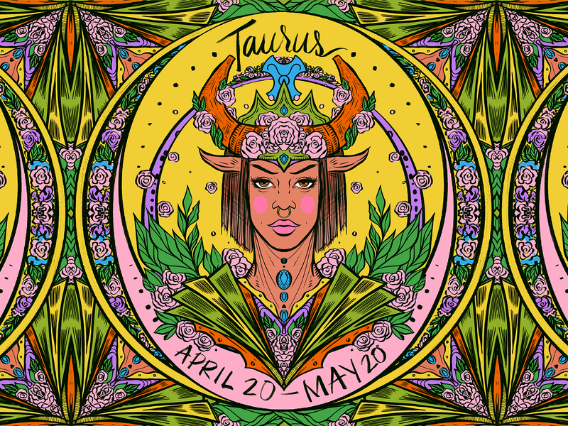 Daily ZODIAC Sketch - #5 - Taurus by Nina Zivkovic on Dribbble