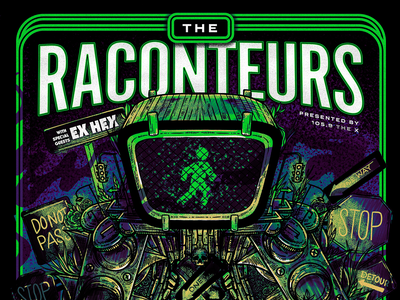 The Raconteurs Stage AE Concert Poster