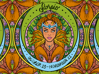Daily ZODIAC Sketch - #11 - Scorpio