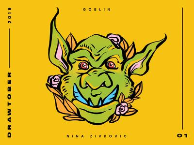 Drawtober: 01 of 31 –Goblin