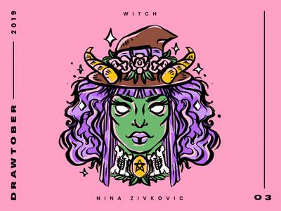 Drawtober: 03 of 31 –Witch