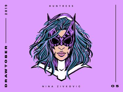 Drawtober: 05 of 31 –Huntress