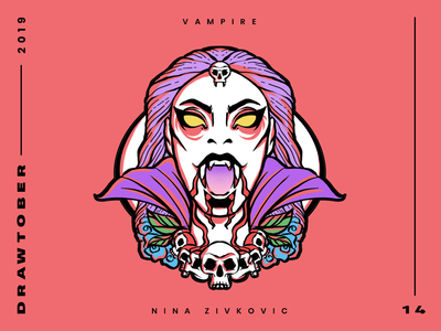 Drawtober: 14 of 31 – Vampire