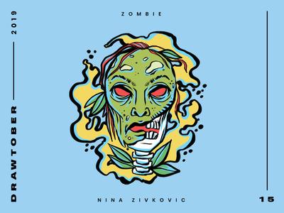 Drawtober: 15 of 31 – Zombie