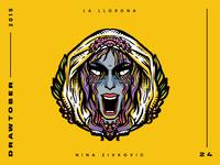 Drawtober: 24 of 31 – La Llorona