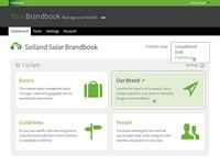 Your Brandbook Cockpit page design