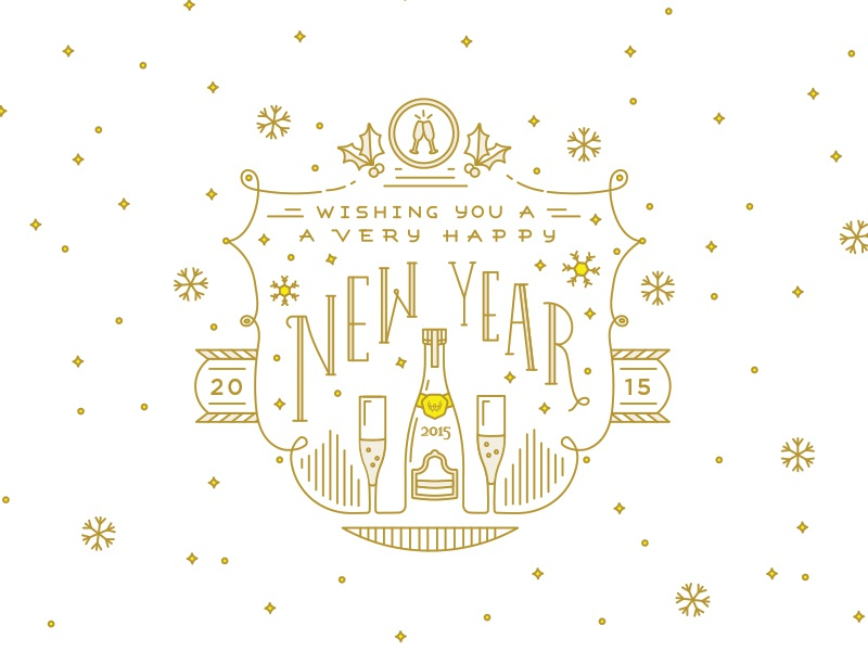 Happy New Year new years illustration vector workhorse lettering