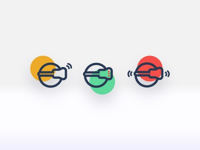 Virtual Reality Icons icon reality virtual userinterface ux ui dailyui