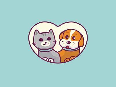 Animaluszek | Logo brand identity pets heart logo shot clean illustration dog logo cat logo animals pet store pet logotype logo branding