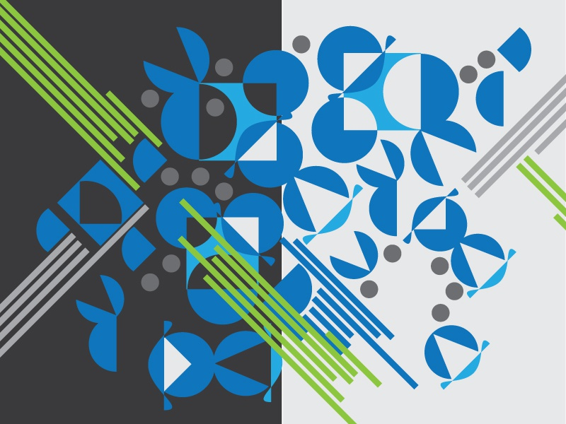Duality of Design abstract graphic