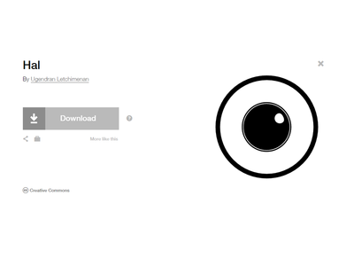 Hal - Eye Icon (Noun Project)