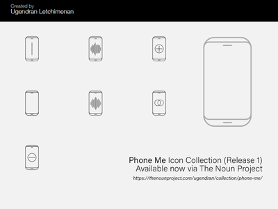 Noun Phone Me Icon Collection (Release 1)