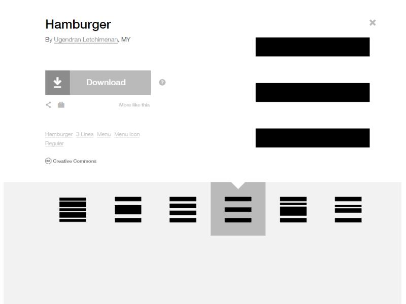 Hamburger Collection -  Menu Icons funny burgers menu icon menu icon