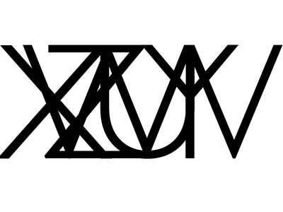 A memento to the all the axis & planes fontwork typography v u z y x