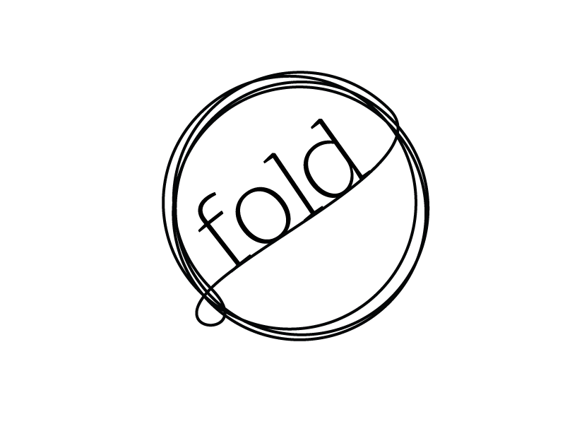 Fold doodle font work typography