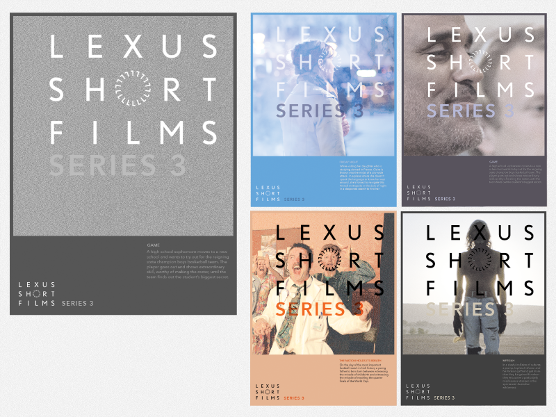 FRAMED - Lexus Short Films - Series 3 Poster film focus layout typography poster