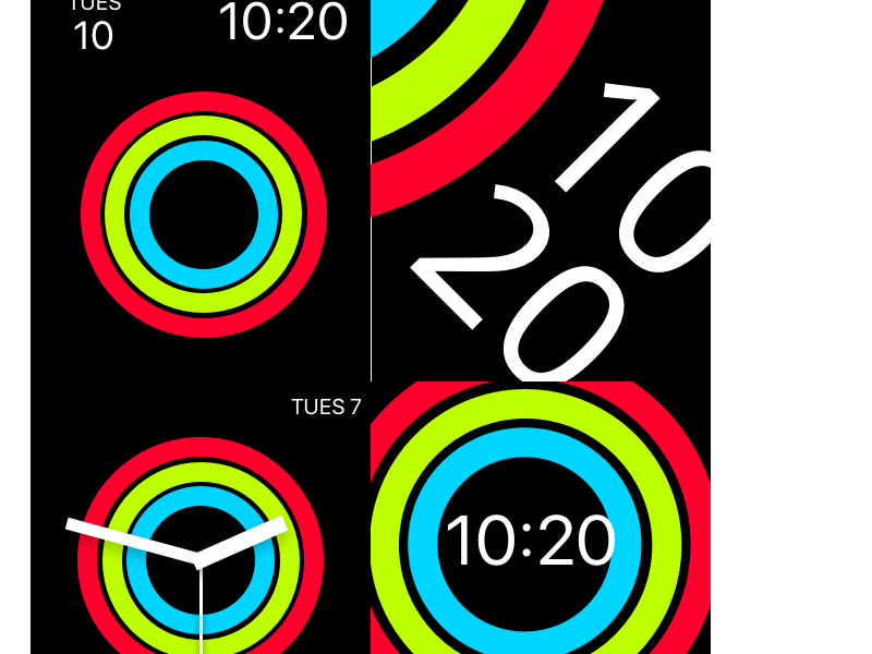 Early Sketches of Watchface Ideas