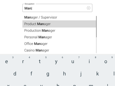 Full screen Suggestive Type for Tablet forms ux micro-ux