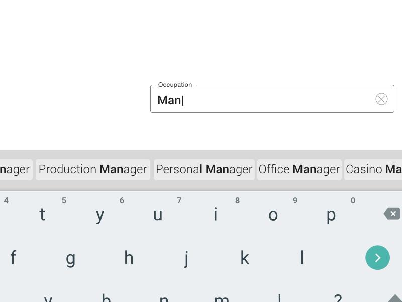 Suggestive Type - Slider Keyboard keyboard slider ux micro-ux