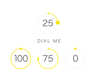 Tab Dial UI - For Large Tap area.