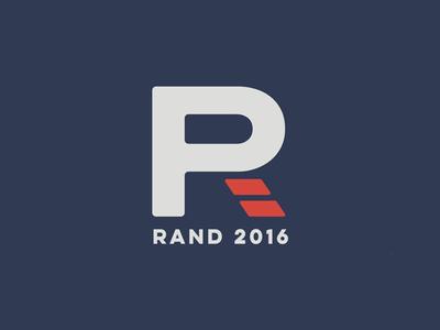 Rand Paul Rand reimagining logotype brand logo republican america campaign politician political rand paul