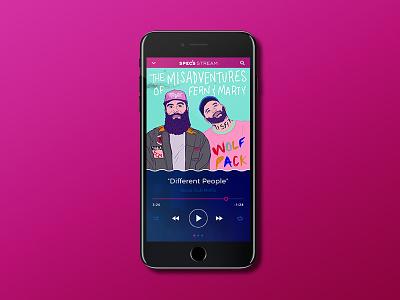 Spec's Music [Revisited] Application design misfits club social mockup 7 iphone rebrand player specs music ui