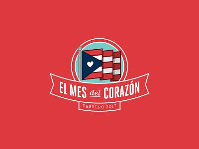 Heart Month - Puerto Rico emblem logo february febrero bandera corazon rico puerto flag american month heart