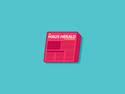 ACVDO Newsletter - The Haus Herald neon miami illustration paper acvdo herald haus icon newspaper newsletter