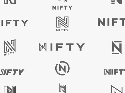 NIFTY Logo Exploration nifty charger icon tech charging battery letter monogram single logo design n