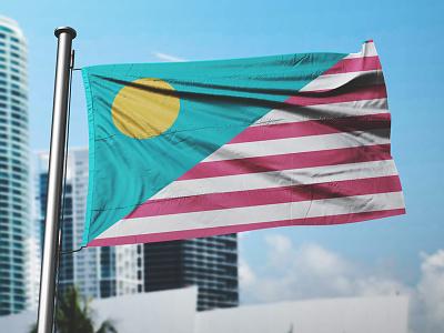 "New Miami Flag - ""Suns & Stripes"" reimaginings dade vice deco beach sky stripes sun miami vexillology flag design"