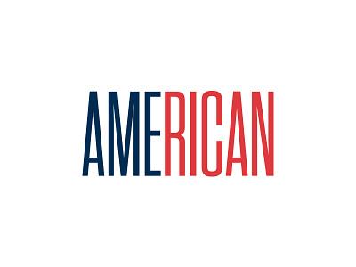 AME.RICAN blue red fundraiser american rican relief condensed typography boricua usa rico puerto