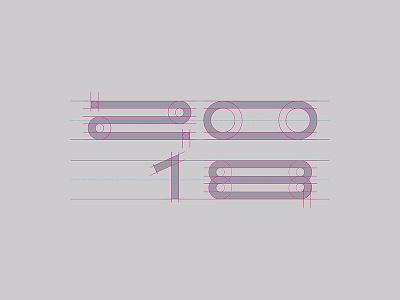 20—18 new construction year 2018 numbers futuristic typogaphy corp neu future